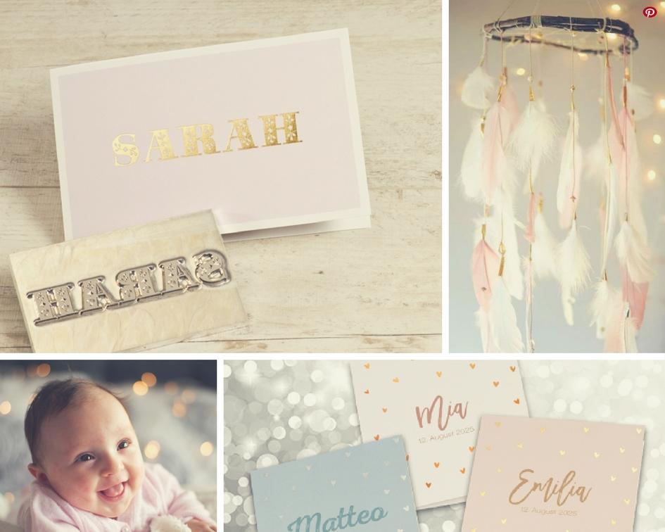 Collage-Geburtkarte-mit-Goldfolie