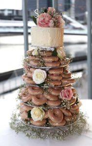 originele huwelijkstaart donut