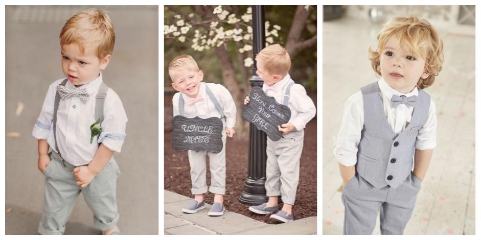 kledij voor de bruidskindjes jongens