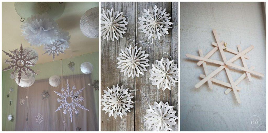 winter wonderland decoratie sneeuwvlokjes