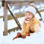 sneeuwfoto op de kerstkaart