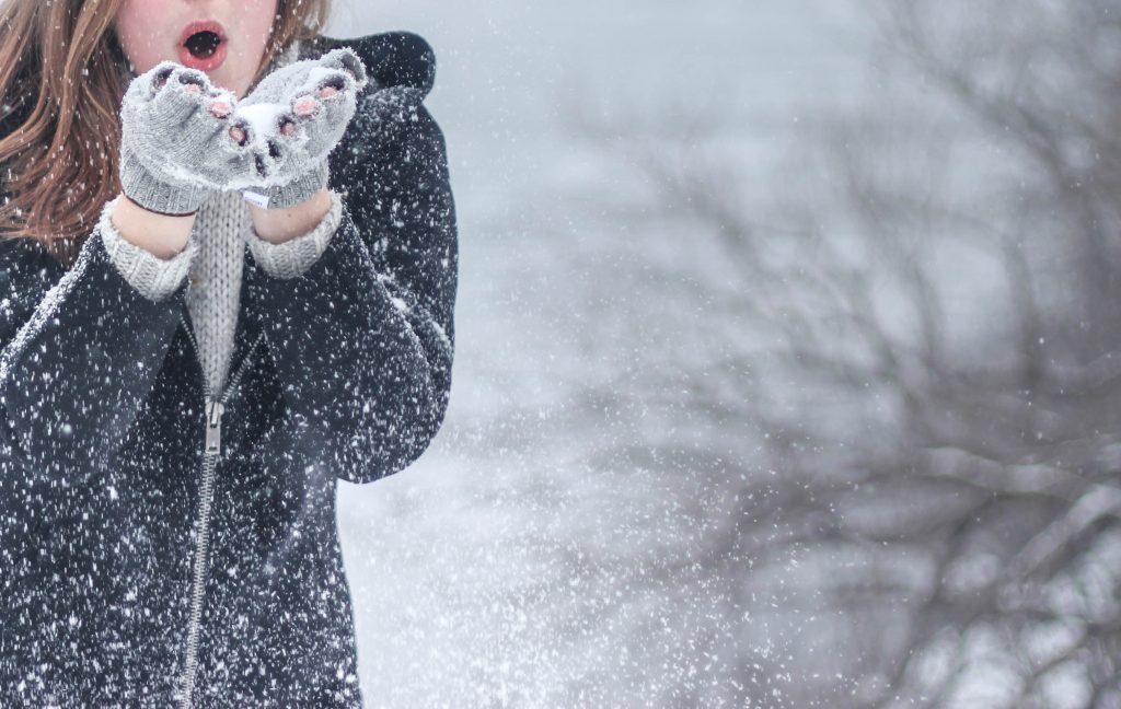 sneeuwfoto op de kerstkaart tips