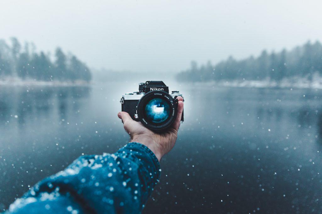 sneeuwfoto nemen met flits