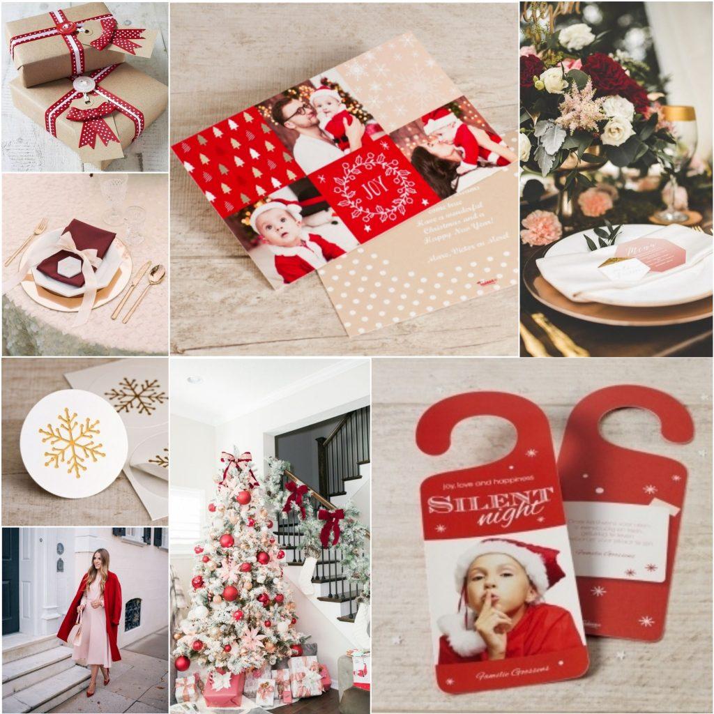 rode en blush accenten in kerstmis