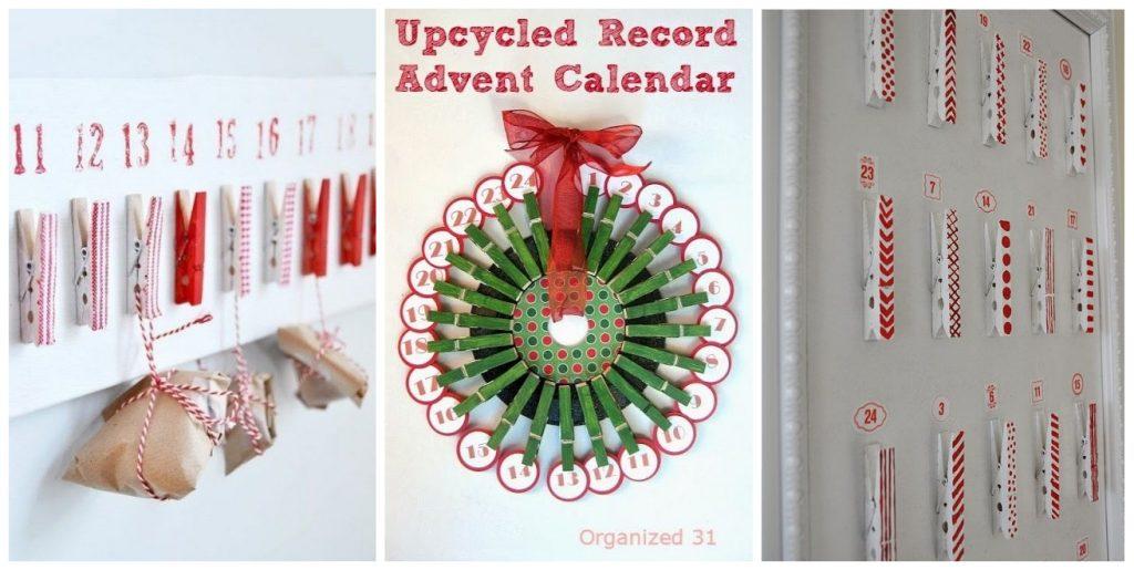 kerst aftelkalender wasknijpers