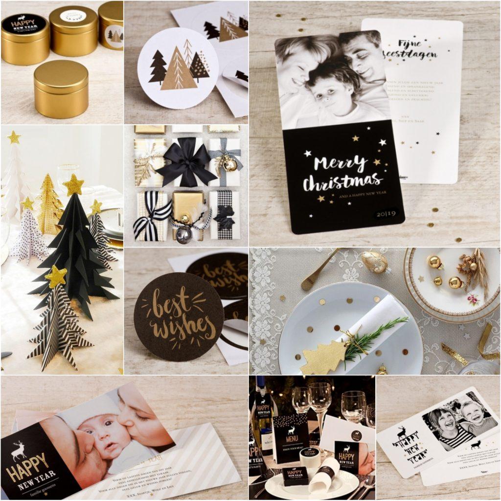 kersttrends zwart en goud