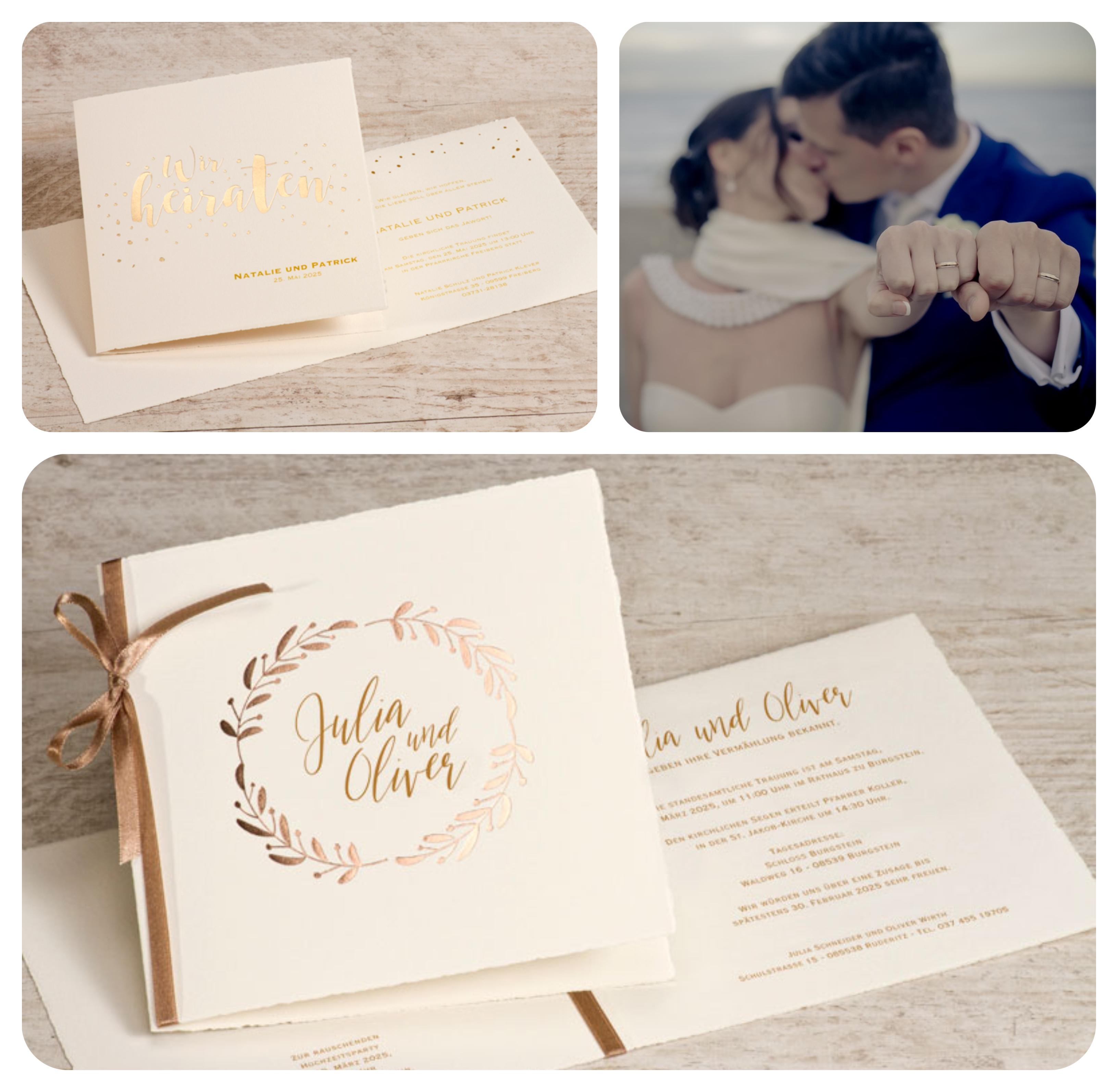 Personalisierte Kalligrafie Handlettering Hochzeitskarten Fur