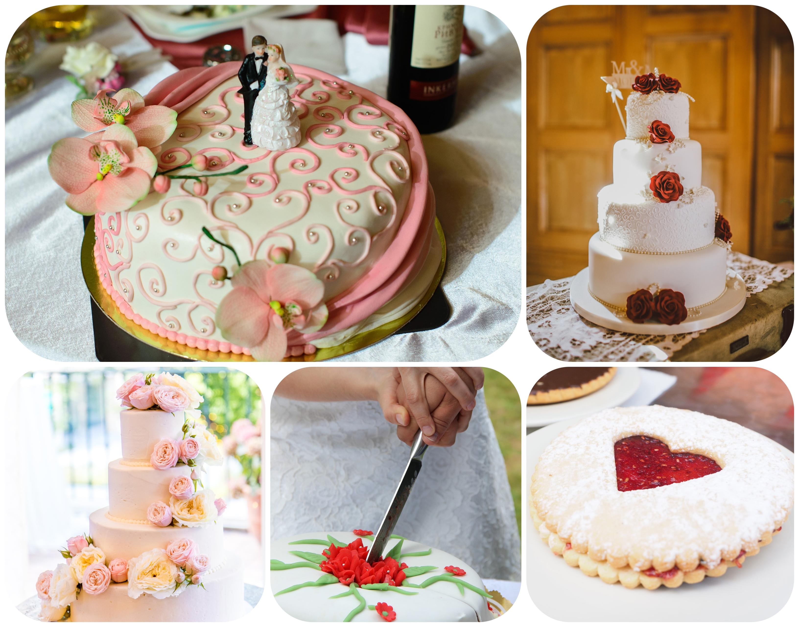 Hochzeitstorte Topper und Herzform