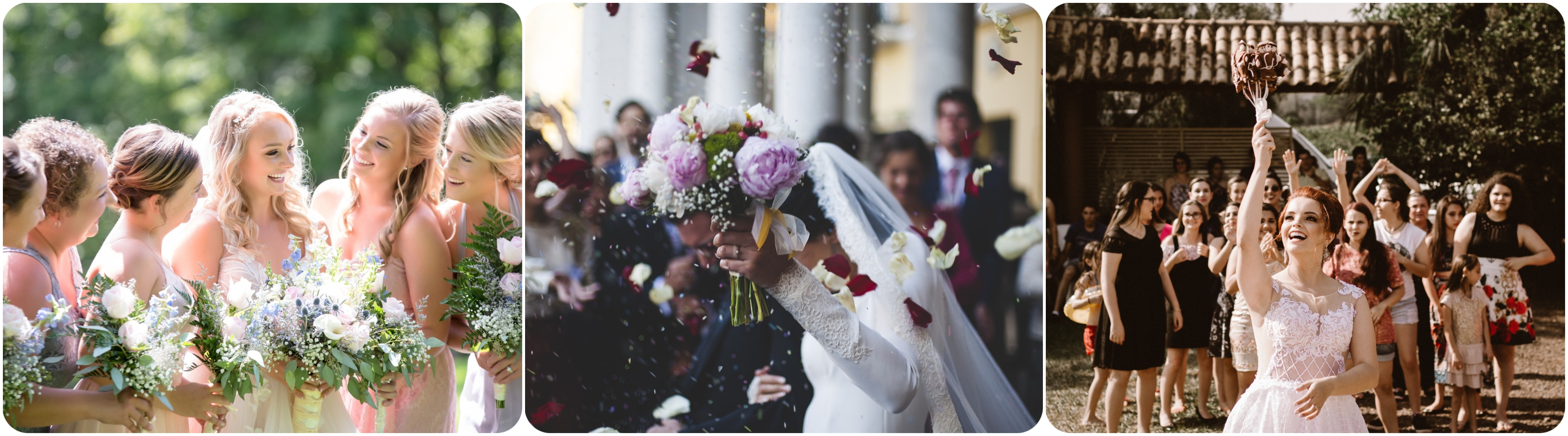 Brautstraußwerfen als Hochzeitsbräuche