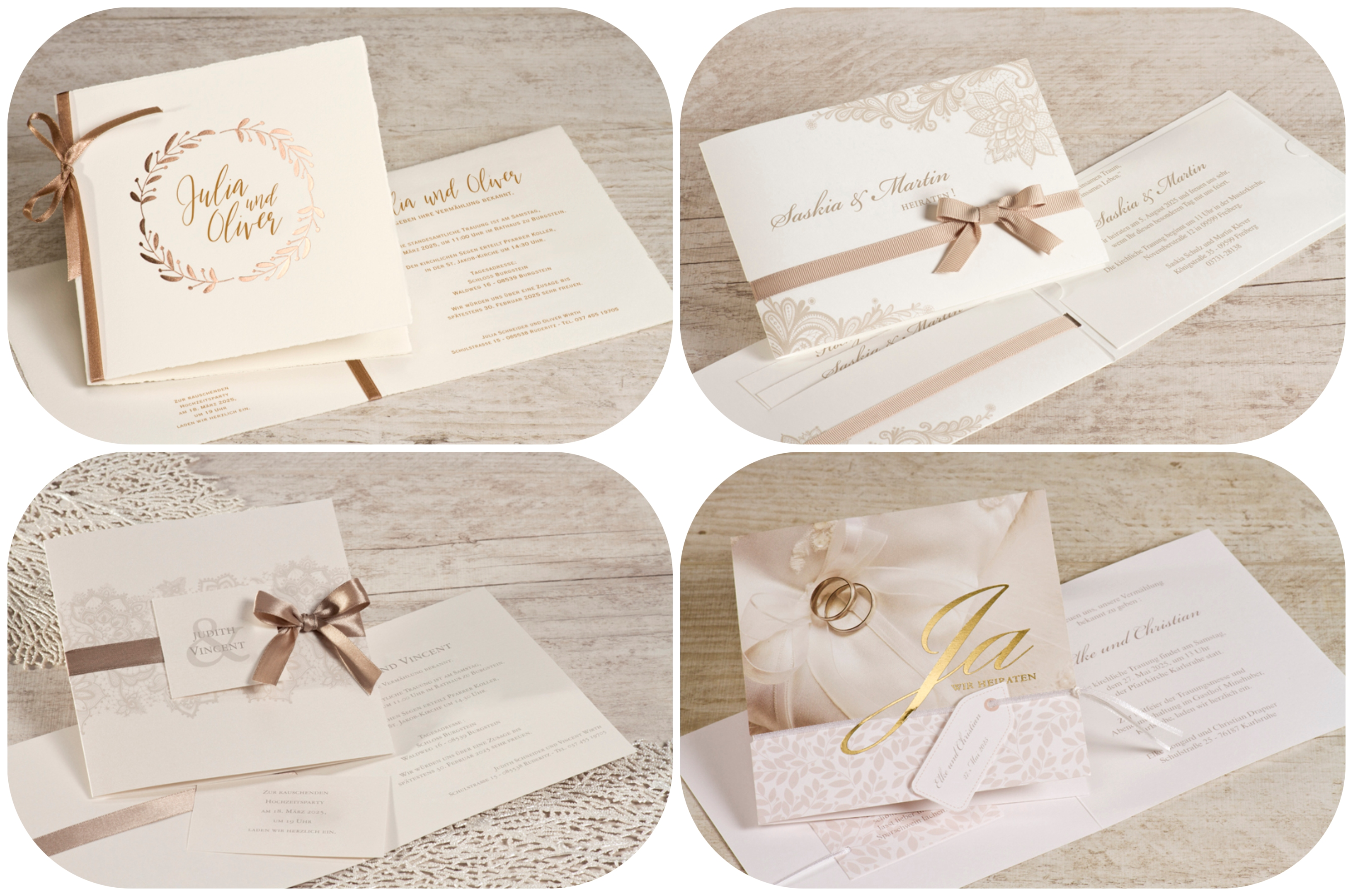 Stilvolle Einladungskarten Hochzeit
