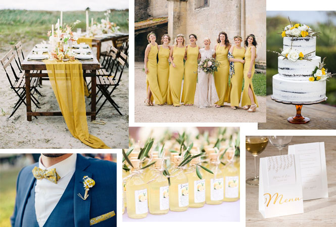 couleur mariage moutarde
