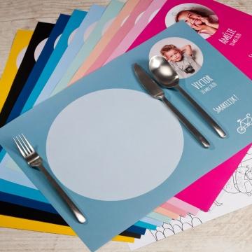 personaliseer een placemat voor op het communiefeest van uw kind