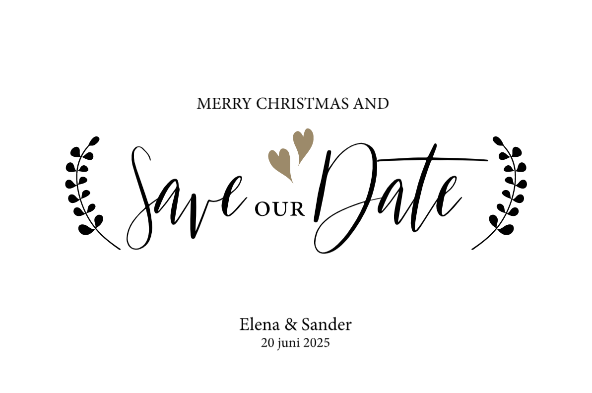 Origineel: Save the date kerstkaarten