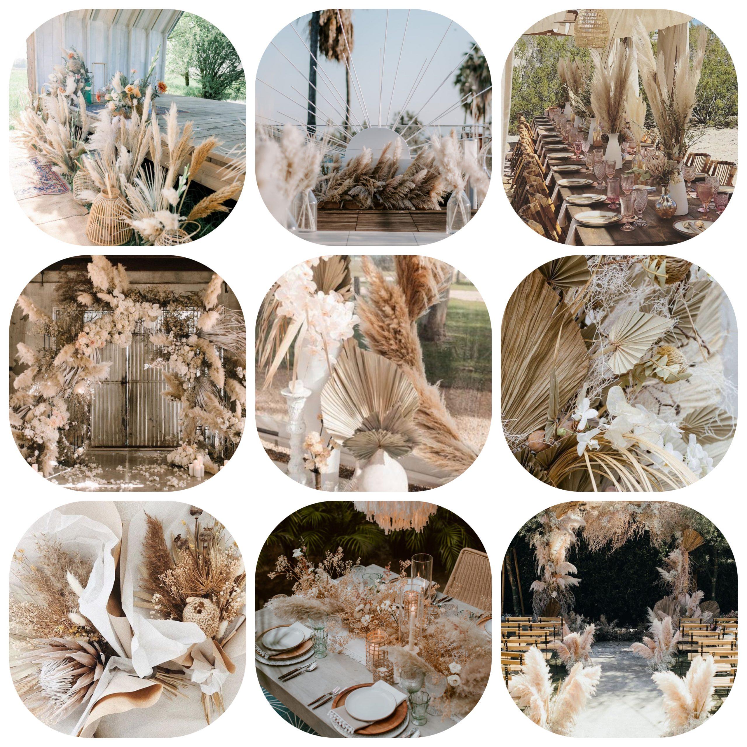 Droogbloemen bruiloft