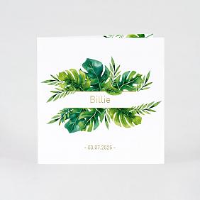 Boho lente geboortekaartje met goudfolie