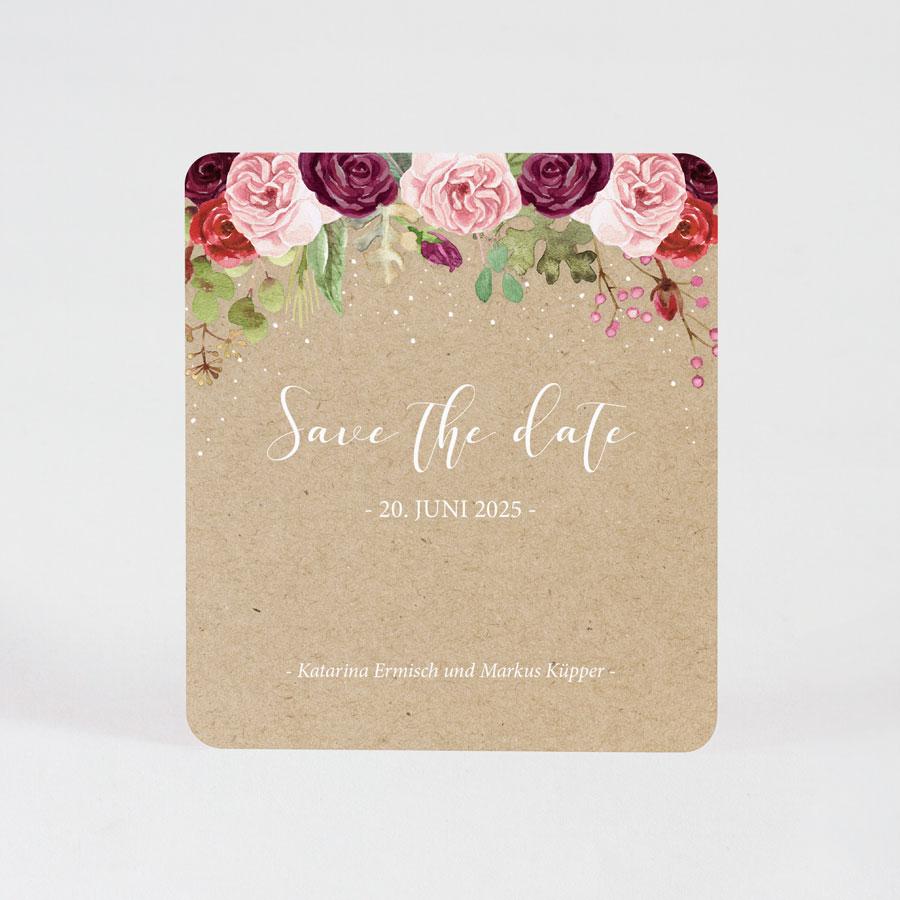Save the Date Karte mit Blumen