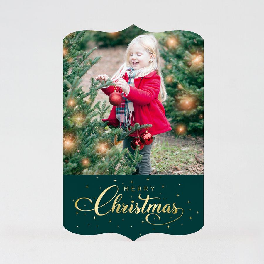 Kerstkaart met originele vorm en eigen foto
