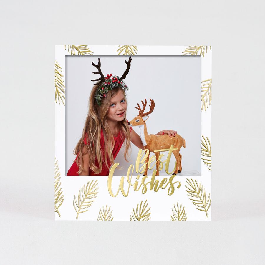 Polaroid kerstkaartje met goudfolie