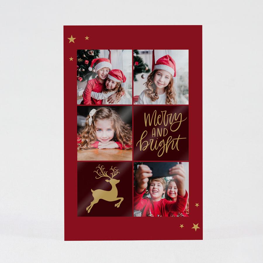 Kerstkaart met fotocollage