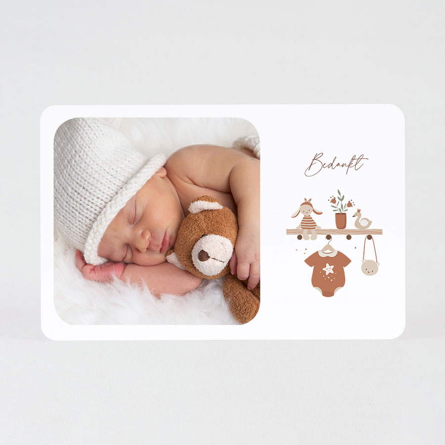 Geboortekaartjes 'Cocooning baby'