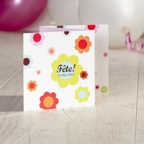 invitation à une première communion fleurie